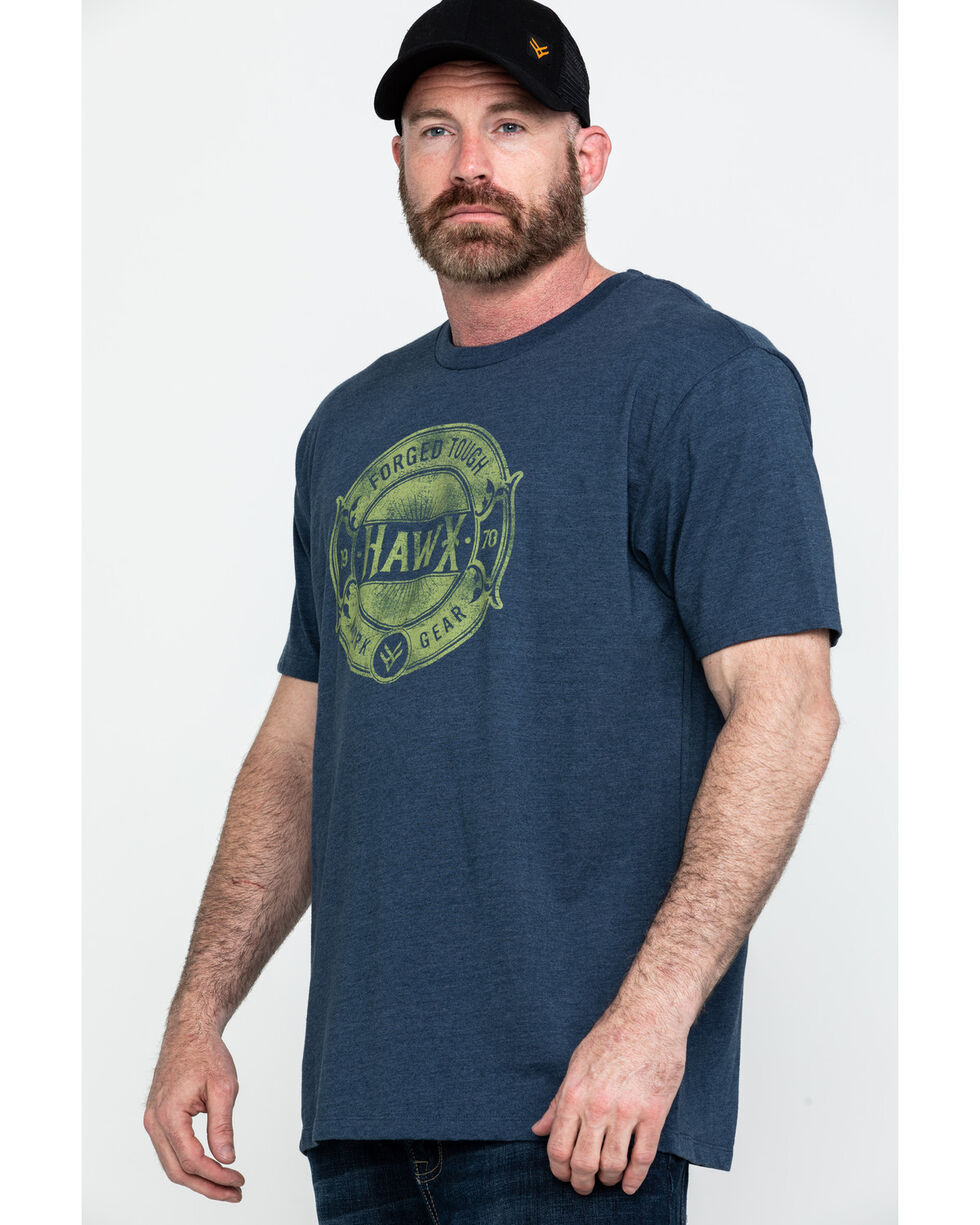 Hawx® Men's Forged Tough Graphic Work T-Shirt , Navy, hi-res