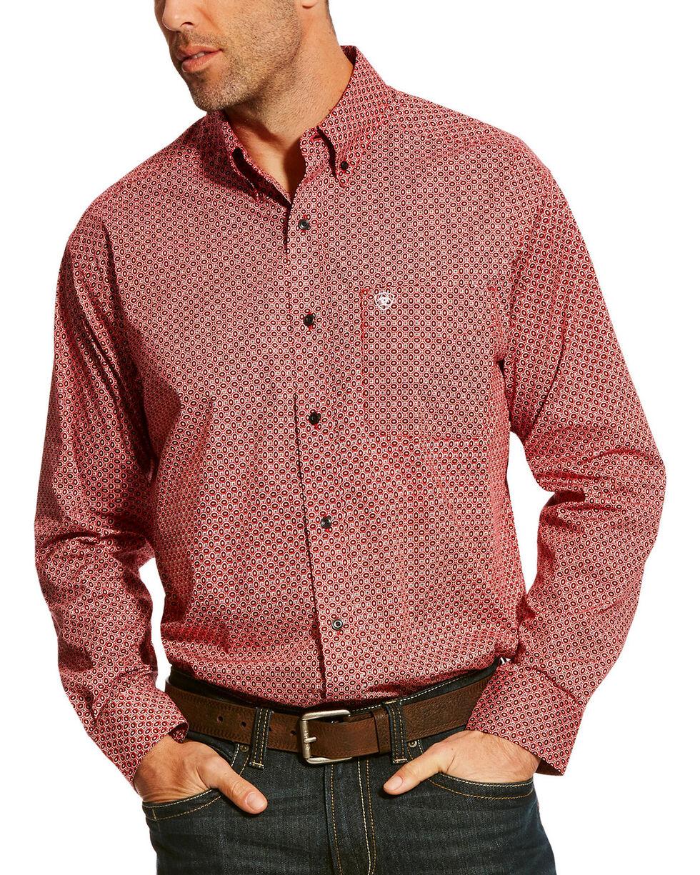 Ariat Men's Red Camilo Stretch Print Shirt , Multi, hi-res