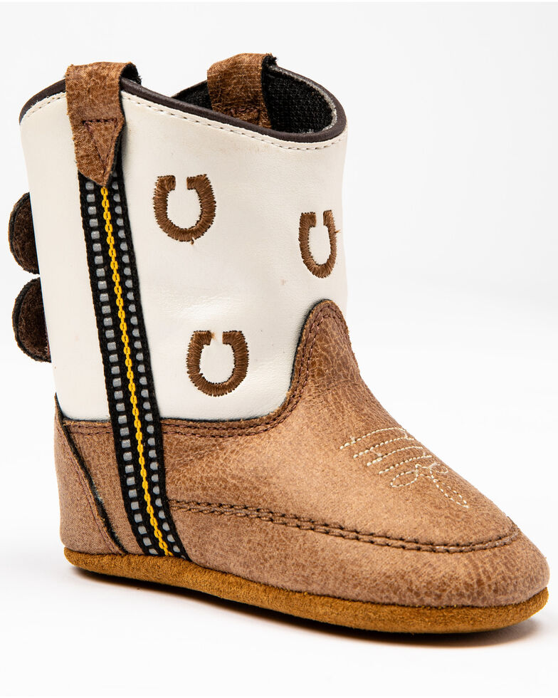 Cody James Infant Boys' Little Horseshoe Western Boots, Brown, hi-res
