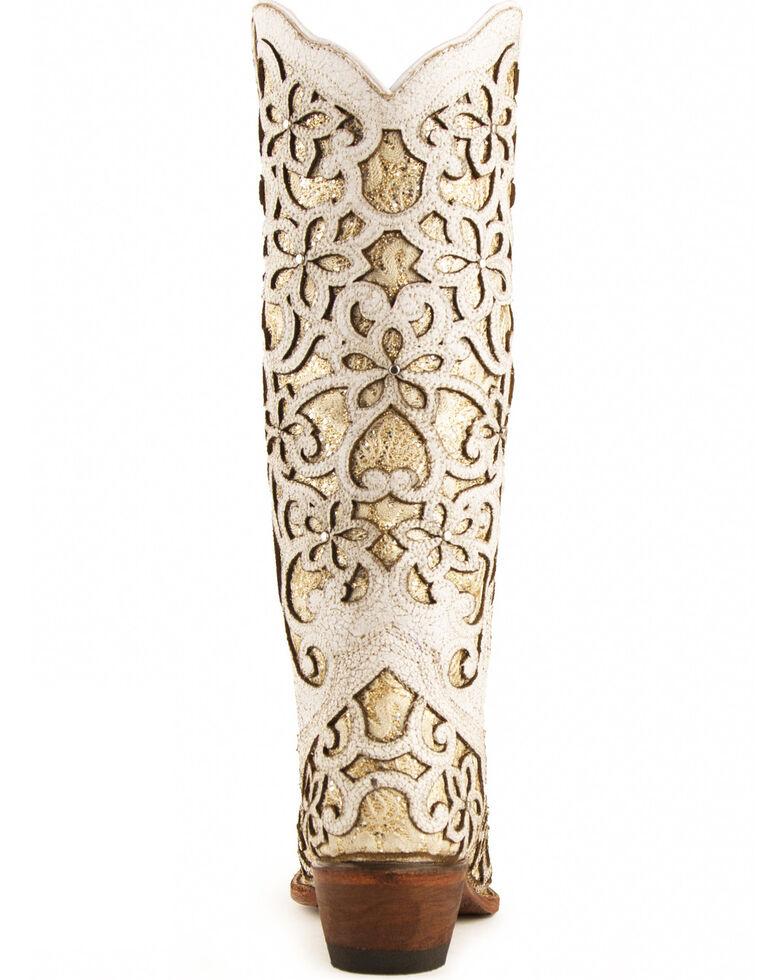 Ferrini Women's Bliss Western Boots - Snip Toe, White, hi-res