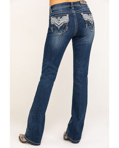 Grace in LA Women's Medium Chandelier Bootcut Jeans , Blue, hi-res