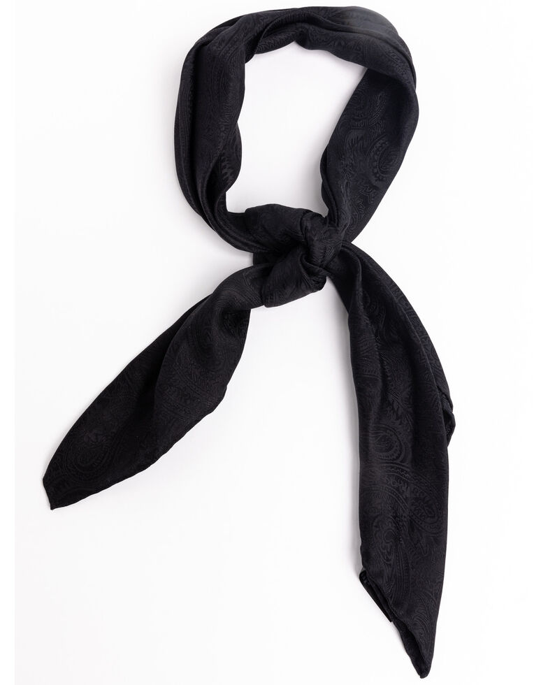 Cody James Men's Black Silk Jacquard Scarf , Black, hi-res