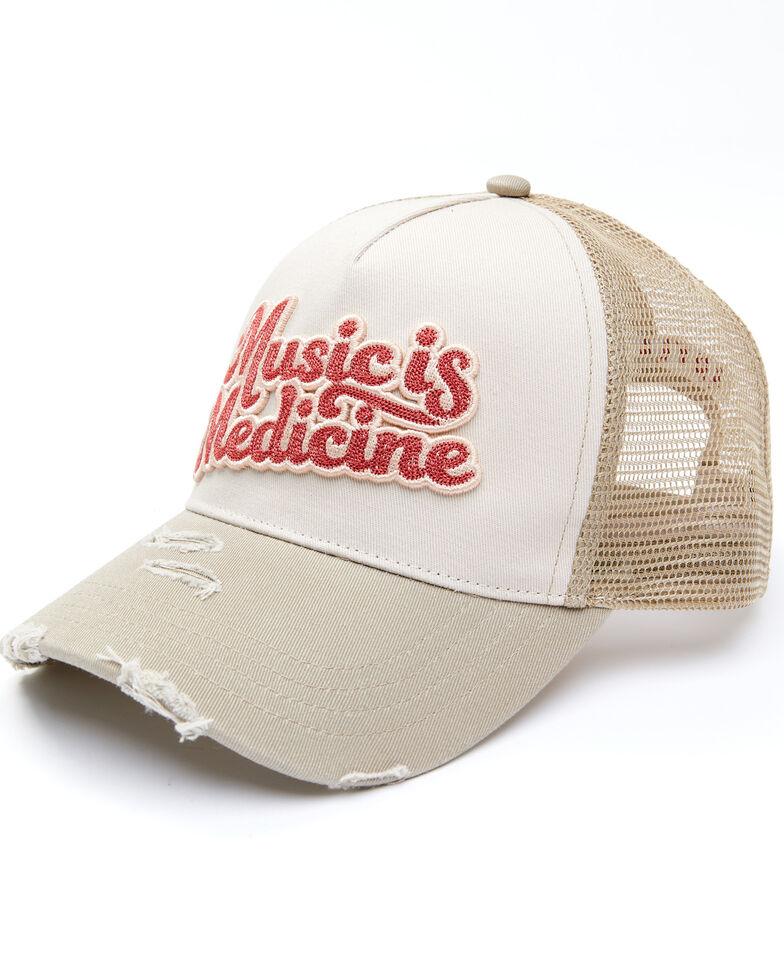 Idyllwind Women's Music Is Medicine Mesh-Back Ball Cap , White, hi-res