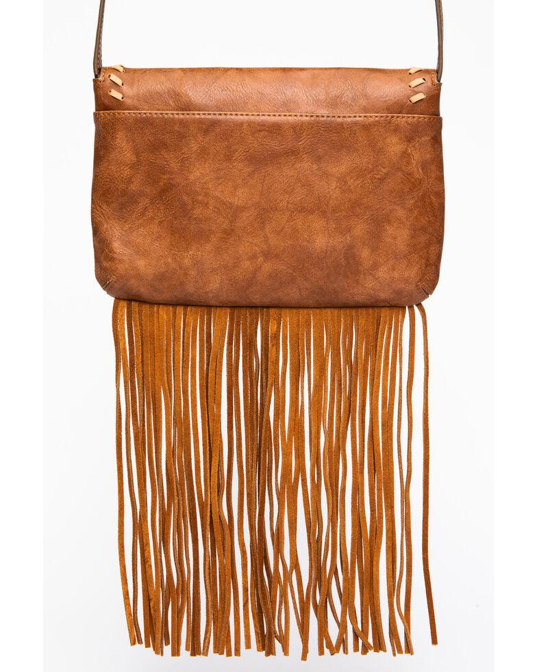 Shyanne Women's Studded Fringe Handbag, Cognac, hi-res