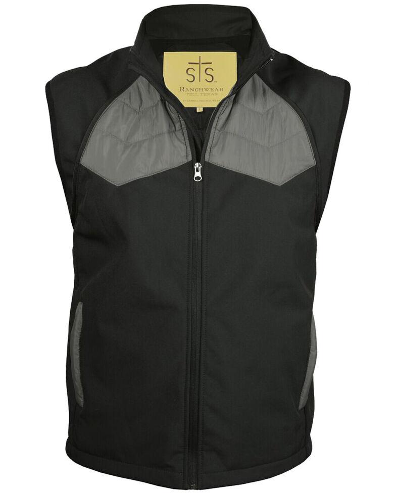 STS Ranchwear Men's Carson Convertible Vest/Jacket, Black, hi-res