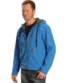 Carhartt Water Resistant Soft Shell Hooded Jacket, Blue, hi-res