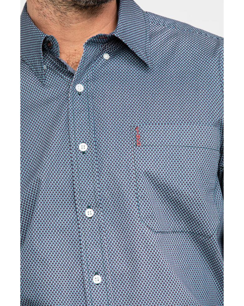 Cinch Men's Purple Modern Geo Print Button Long Sleeve Western Shirt , Purple, hi-res