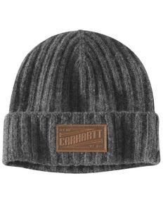 Carhartt Men's Seaford Rib Knit Fleece Work Hat , Heather Grey, hi-res
