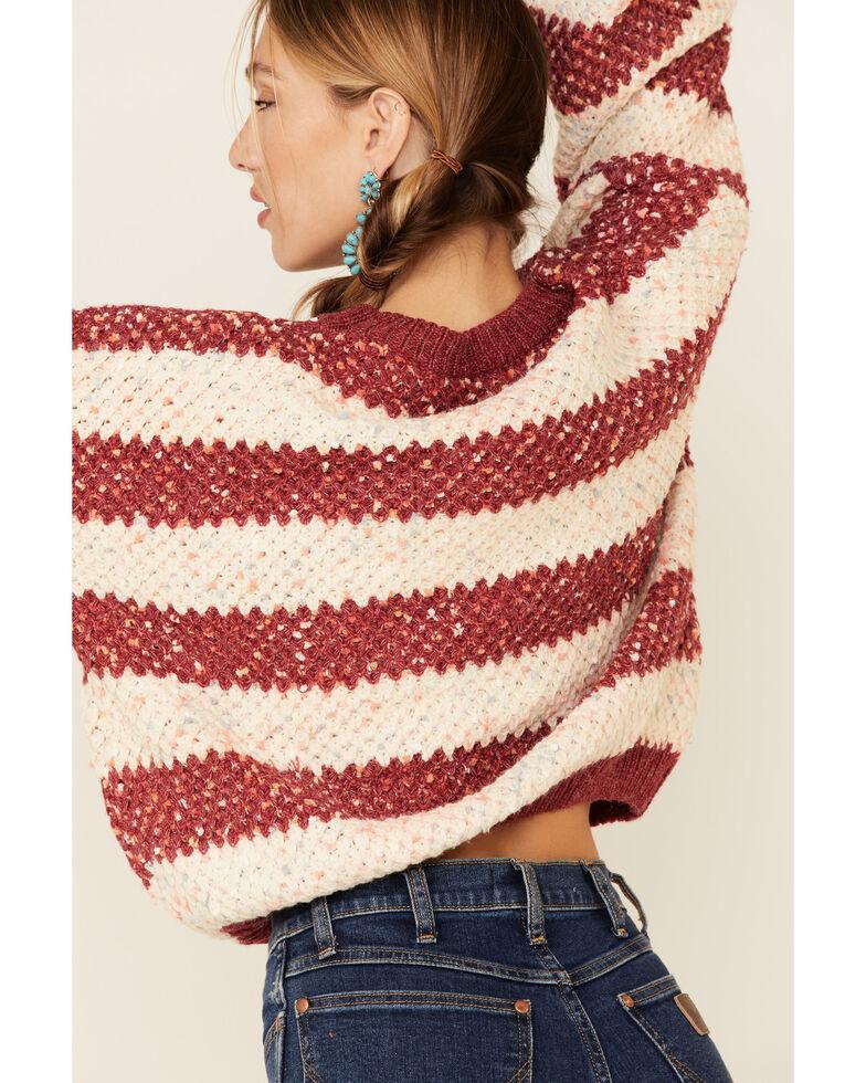 Sadie & Sage Women's Rust Copper Striped Sweater , Rust Copper, hi-res