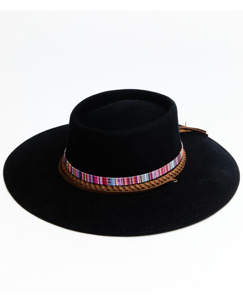 Shyanne Women's Black O Mirandita Wool Felt Western Hat , Black, hi-res