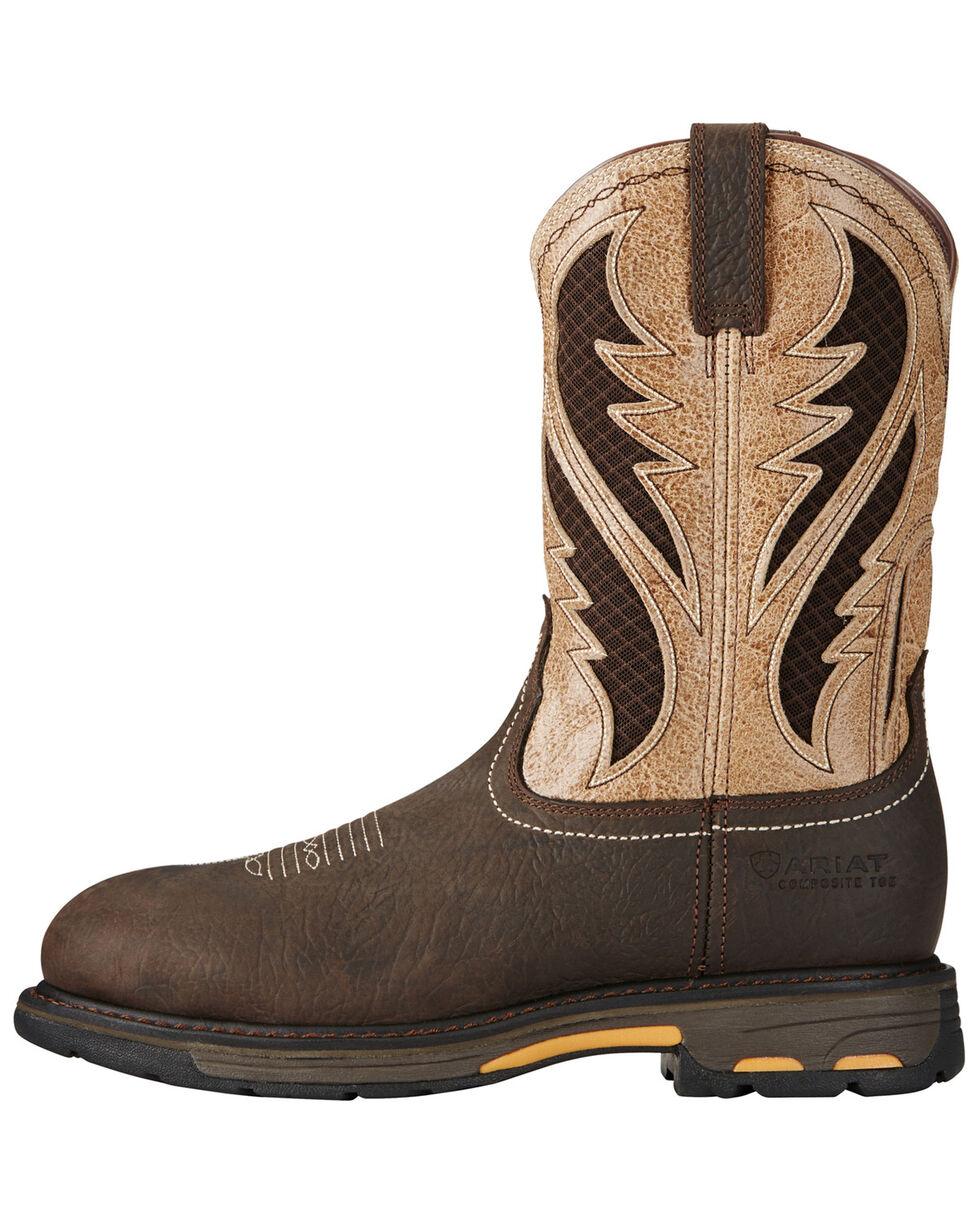 Ariat Men's Workhog Bruin VentTEK Western Work Boots - Composite Toe, Brown, hi-res