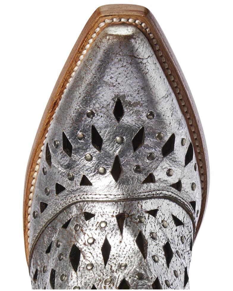 Ariat Women's Dixon Studded Metallic Fashion Booties - Snip Toe, Grey, hi-res