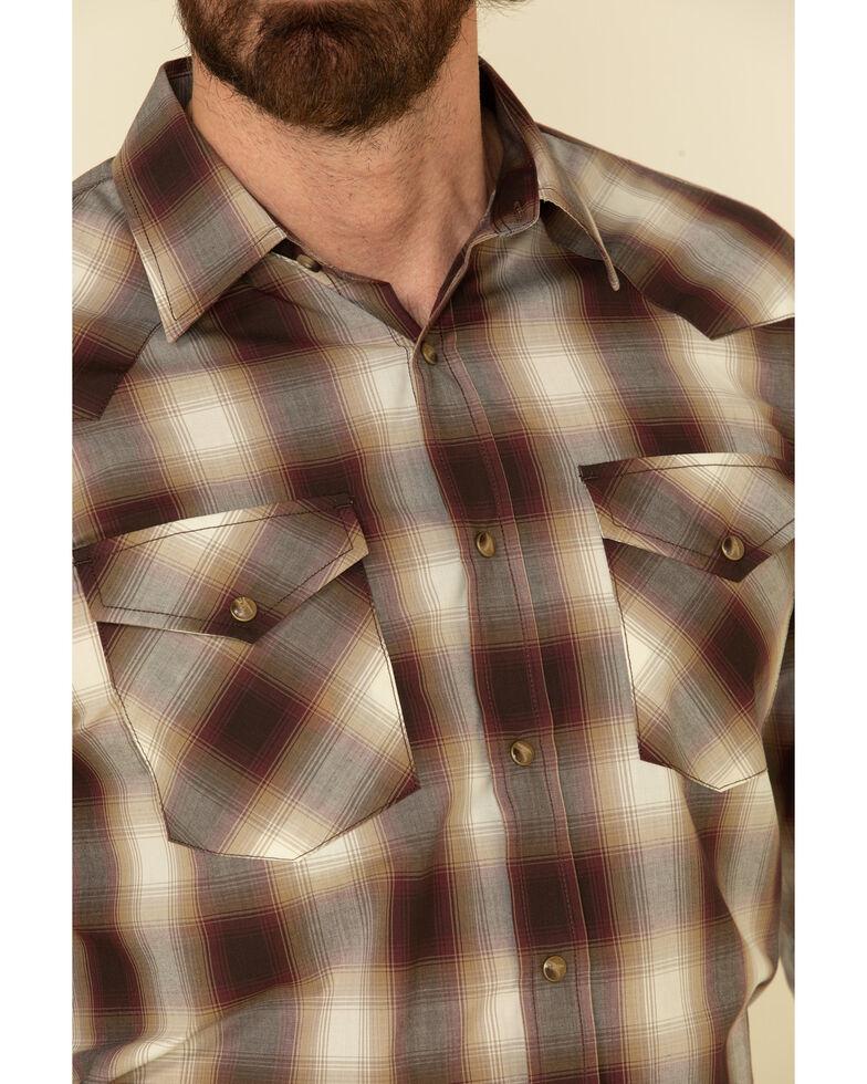 Pendleton Men's Tan Frontier Plaid Long Sleeve Western Shirt , Tan, hi-res