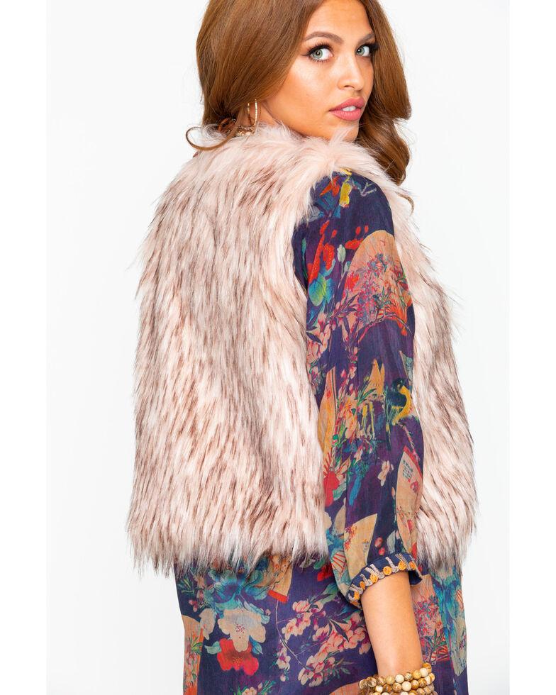 BB Dakota Women's Faux Fur Vest, Mauve, hi-res