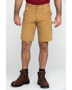"Carhartt Men's Brown 11"" Rugged Flex Dungaree Rigby Work Shorts , Brown, hi-res"
