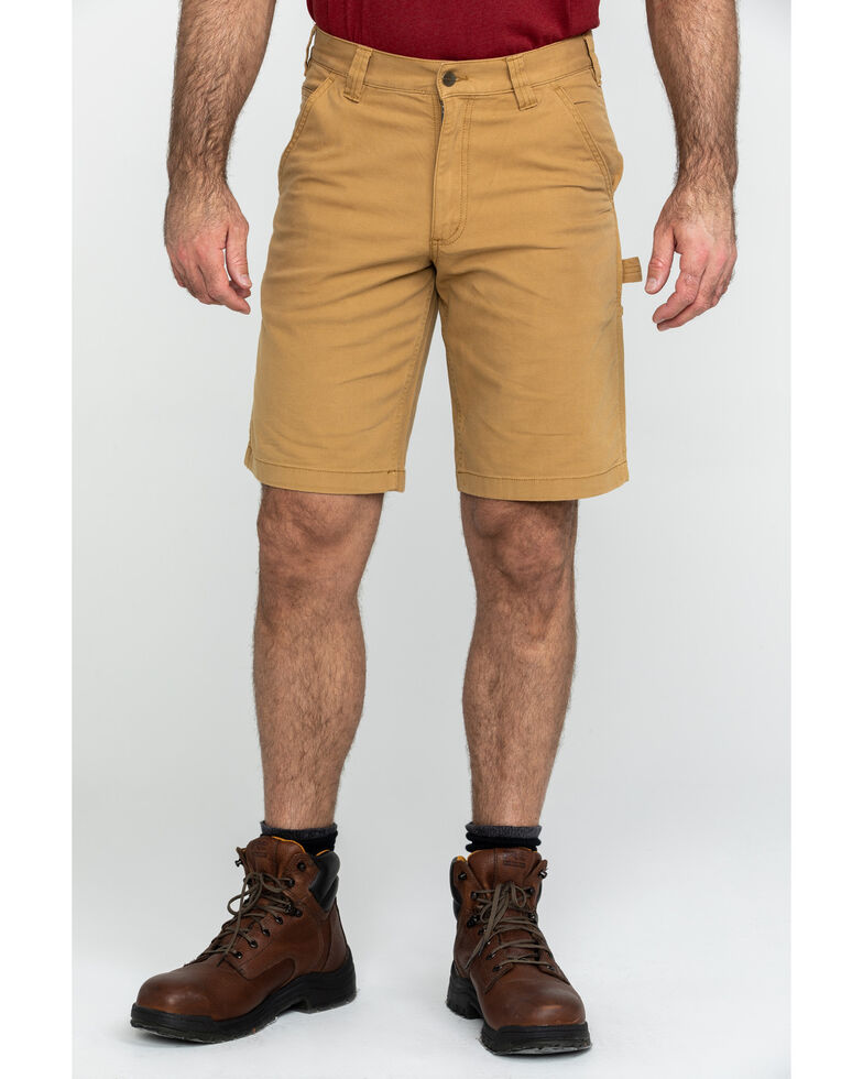"Carhartt Men's Brown 11"" Rugged Flex Dungaree Rigby Work Shorts , Brown, hi-res"