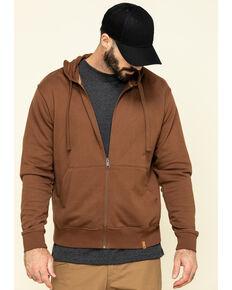 Wrangler Riggs Men's Coffee Full Zip Hooded Work Jacket, Coffee, hi-res