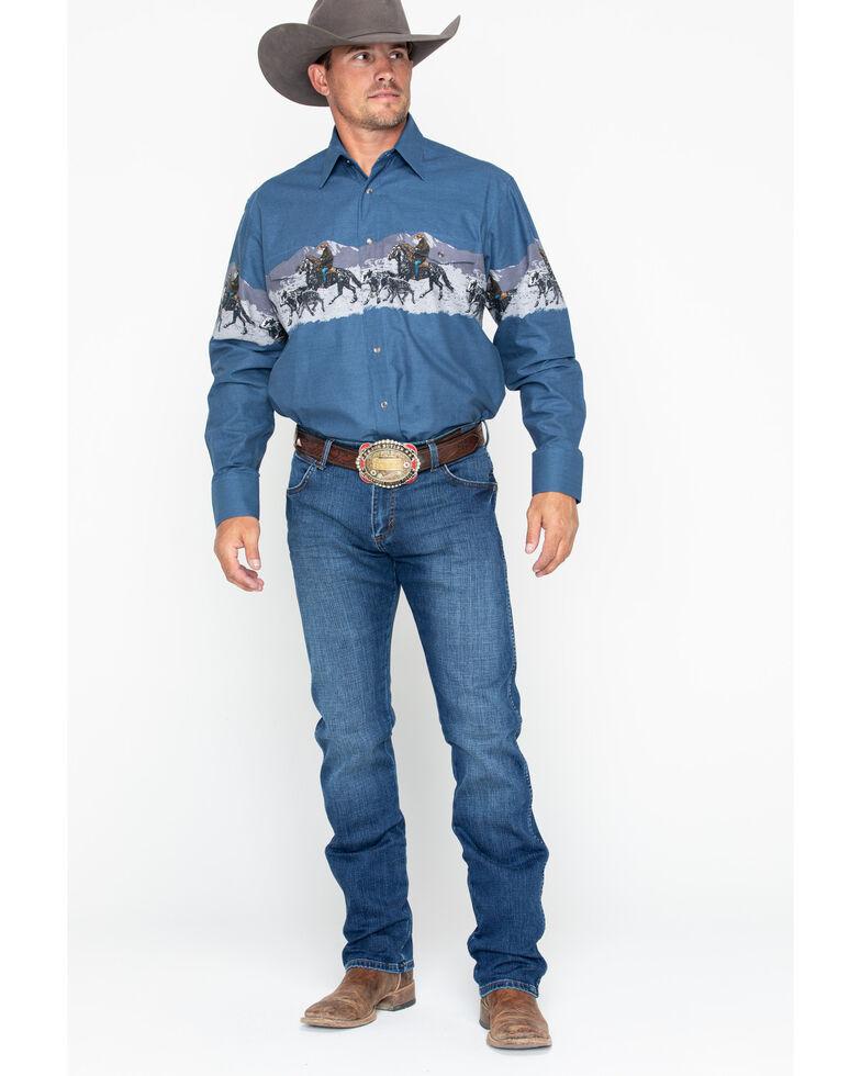 Wrangler Retro Men's Red River Long Slim Straight Jeans , Blue, hi-res