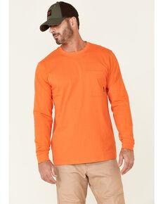 Hawx Men's Solid Orange Forge Long Sleeve Work Pocket T-Shirt , Orange, hi-res