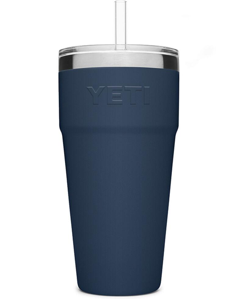 Yeti Rambler 26oz Navy Straw Cup, Navy, hi-res