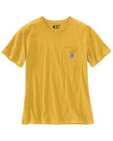 Carhartt Women's Yellow Pocket Short Sleeve Work Shirt, Yellow, hi-res