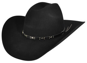 f74d8f2418c Bailey Western Dynamite 2X Black Cowboy Hat.  80.00. Bailey Mens Caliber Wool  Felt ...