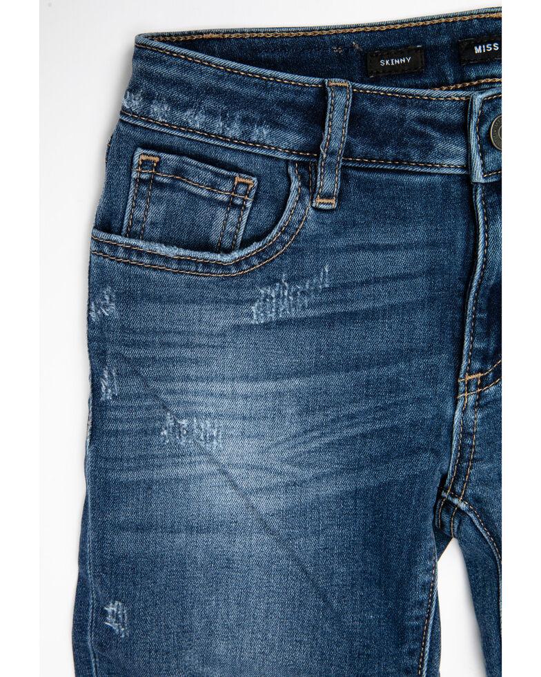 Miss Me Girls' Dark Wash Basic Skinny Stretch Jeans , Blue, hi-res