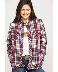 Ariat Women's R.E.A.L. Plaid Shacket , Multi, hi-res