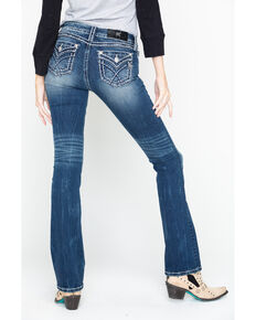 "Miss Me Women's Medium Wash Stitch 32"" Bootcut Jeans, Blue, hi-res"