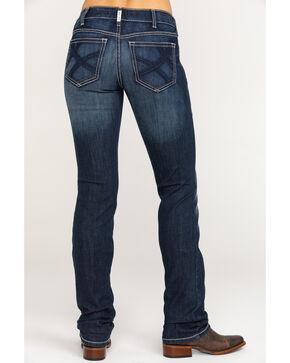 Ariat Women's Real Straight Stitich Ella Jeans, Blue, hi-res