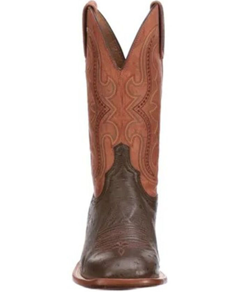 Lucchese Men's Brown Cecil Western Boots - Wide Square Toe, Brown, hi-res