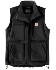 Carhartt Men's Black Super Dux Relaxed Fit Sherpa-Lined Work Vest - Tall, Black, hi-res
