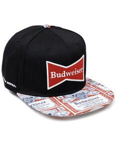 H Bar C Men's Budweiser 3D Embroidered Logo Ball Cap , Black, hi-res