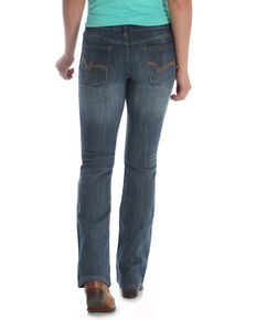 Wrangler Women's Medium Blue Mid-Rise Bootcut Jeans - Plus, Blue, hi-res