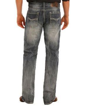 "Rock & Roll Cowboy Men's Double Barrel Small ""V"" Straight Leg Jeans, Indigo, hi-res"