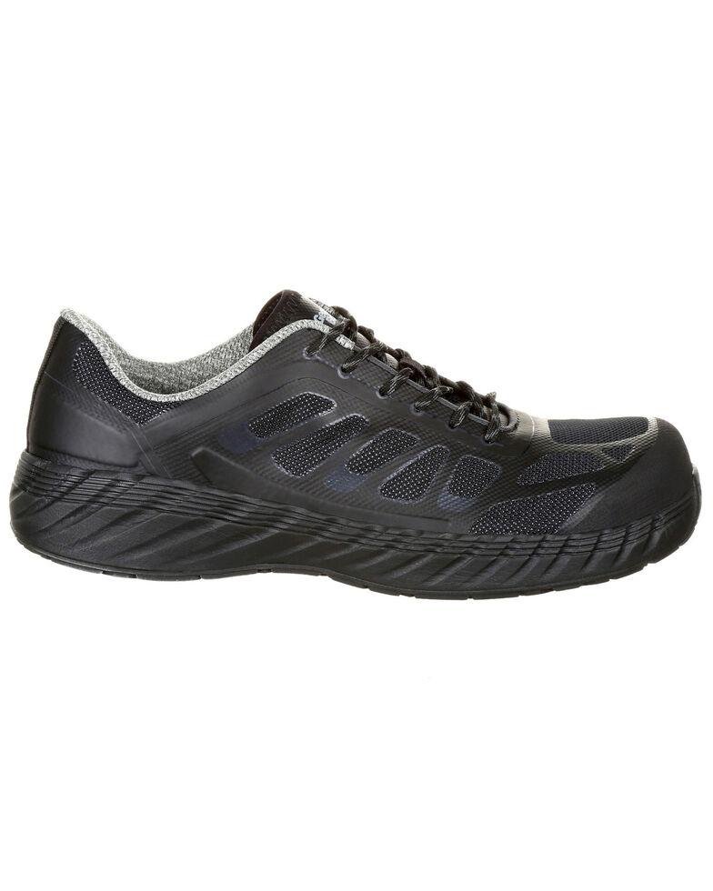 Georgia Boot Men's Reflex Athletic Work Shoes - Composite Toe, Black, hi-res
