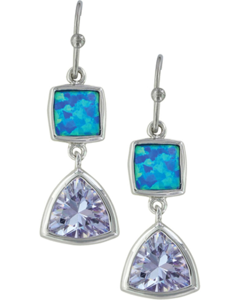 Montana Silversmiths Women's River Of Light Cold Mountain Water Earrings , Silver, hi-res