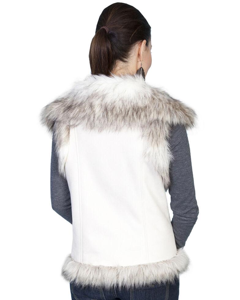 Scully Faux Fur Shoulder & Trim Vest, Off White, hi-res