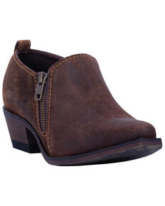 Laredo Women's Ryder Double Zipper Western Booties - Snip Toe, Rust Copper, hi-res