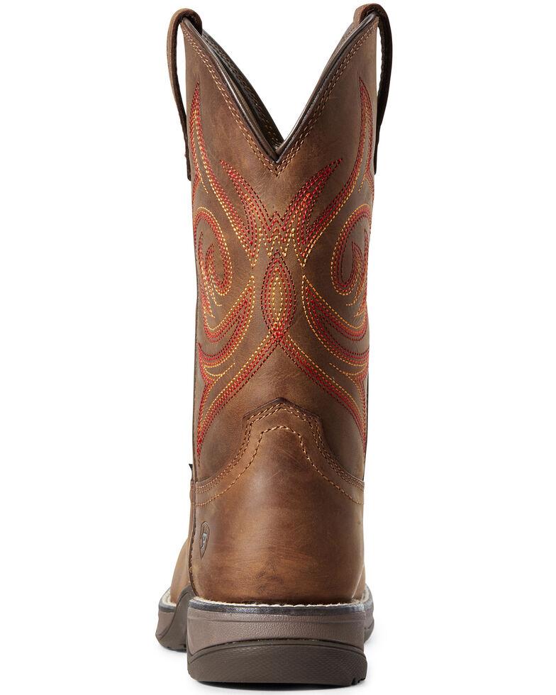 Ariat Women's Anthem Western Work Boots - Composite Toe, Brown, hi-res