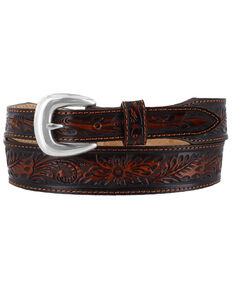 Leegin Men's Laredo Taper Western Belt, Brown, hi-res