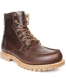 Superlamb Men's Ibex Lacer Boots - Moc Toe, Black Cherry, hi-res