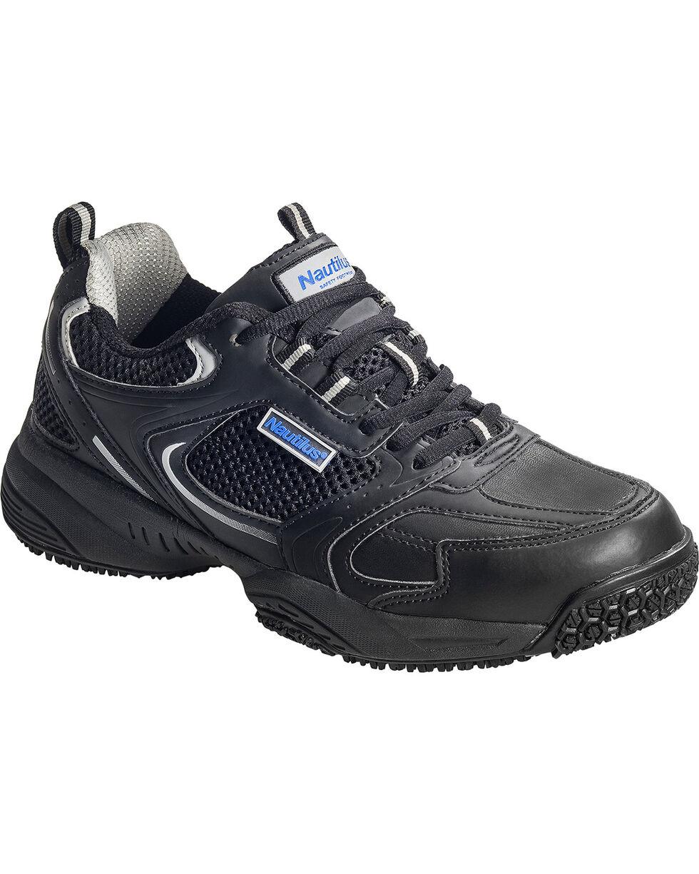 Nautilus Men's Black Athletic Work Shoes - Steel Toe, Black, hi-res