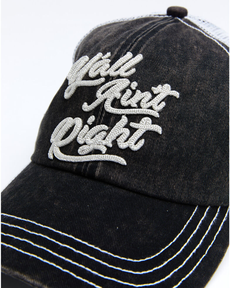 Idyllwind Women's Y'All Aint Right Ball Cap, Black, hi-res