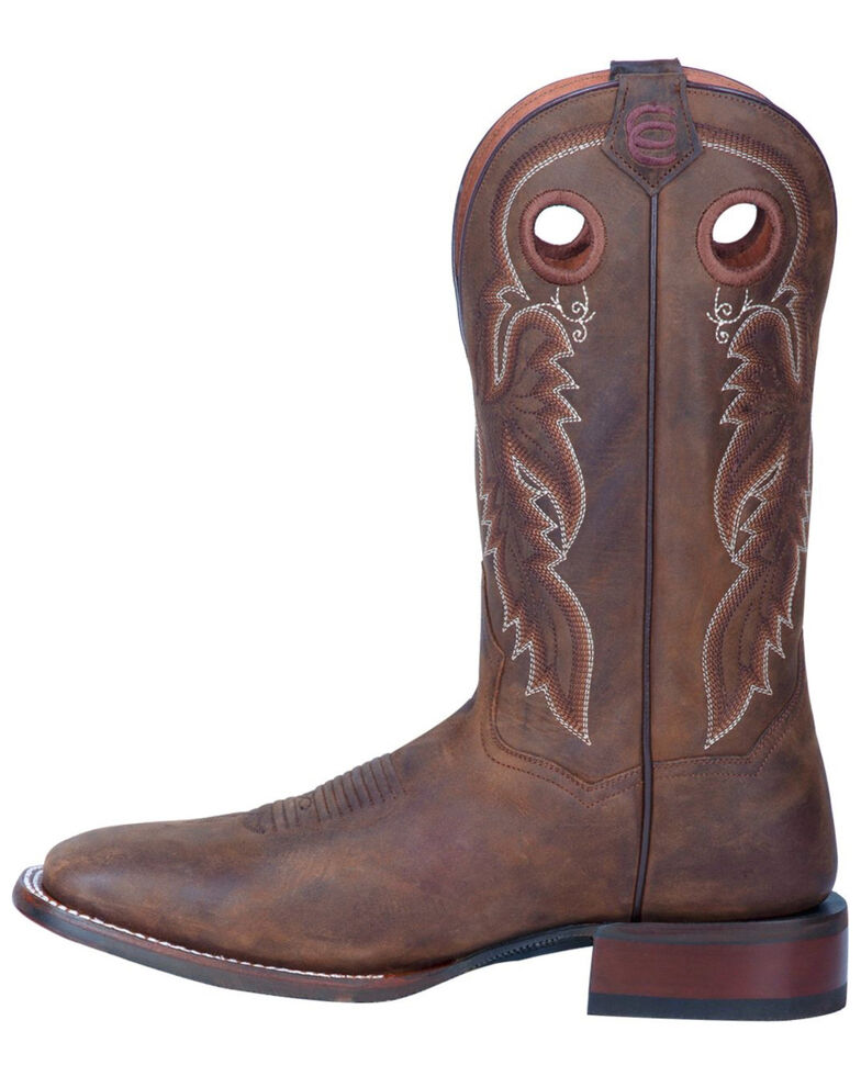 Dan Post Men's Abram Western Boots - Wide Square Toe, Tan, hi-res