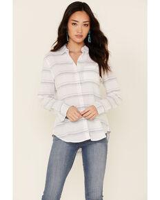 Flag & Anthem Women's Sylva Stripe Long Sleeve Button-Down Western Core Shirt , Blue, hi-res