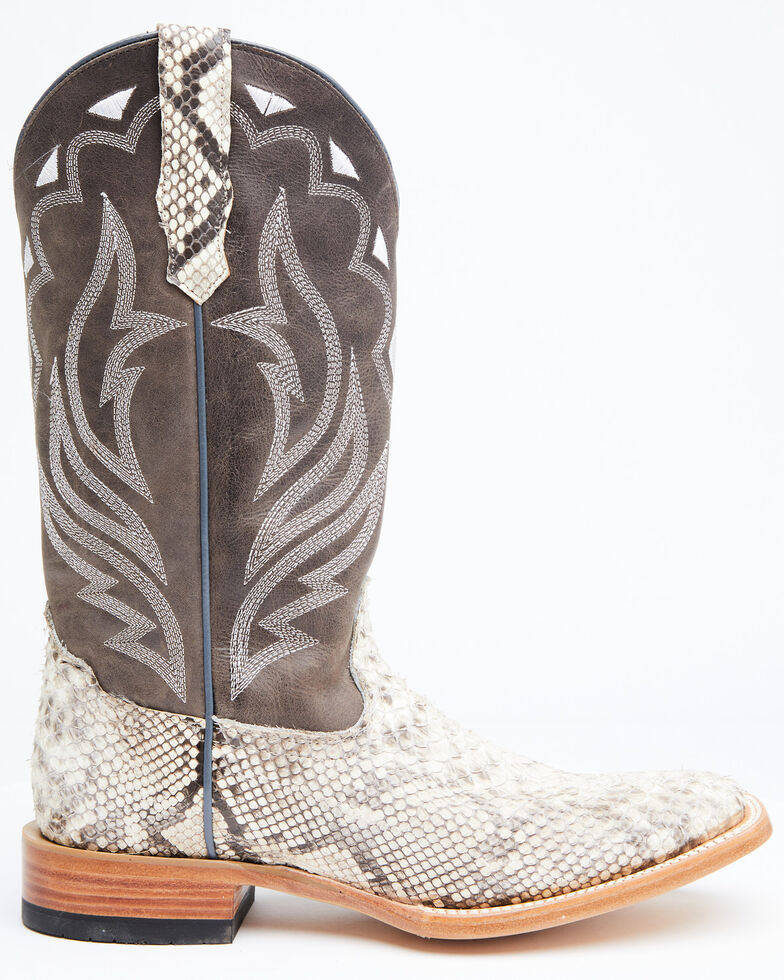 Cody James Men's Grey Python Western Boots - Wide Square Toe, , hi-res