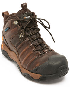Hawx Men's Axis Waterproof Hiker Boots - Composite Toe, Brown, hi-res