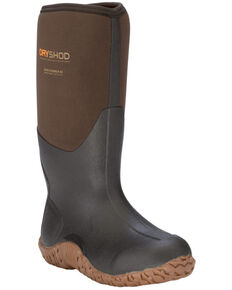 Dryshod Men's Barnstormer Rugged Farm Boot, Brown, hi-res