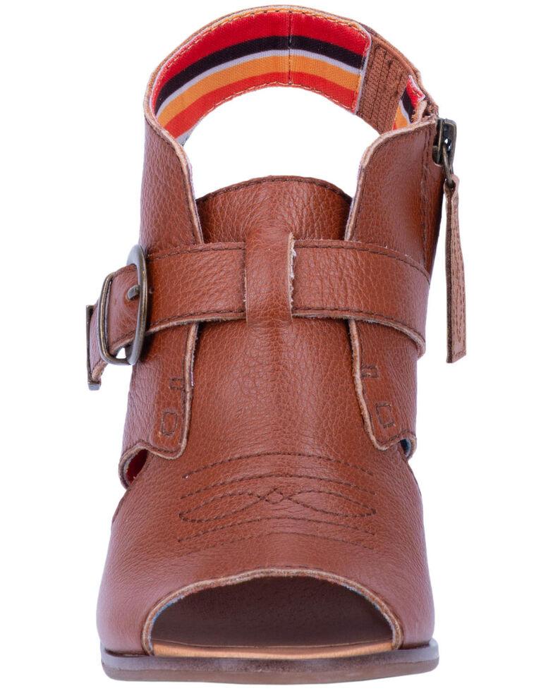 Dingo Women's Stirrup Fashion Booties - Round Toe, Cognac, hi-res